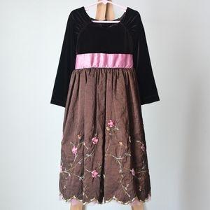 Jona Michelle Velvet & Taffeta Formal Dress